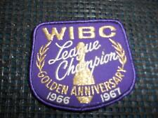 Old Vtg Women's Bowling Embroidered Patch WIBC League Champion 1966-67 Golden