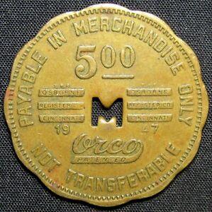 1947 Marshall Dry Goods Co. Barberton, Ohio $5 Trade Token
