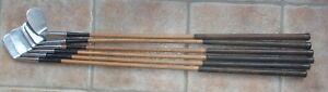 Antique Vintage Rare Wilson Precision Power Gauged Hickory Wood Shaft Golf Set