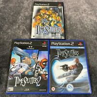 TimeSplitters 1 2 & Future Perfect PS2 PlayStation 2 Game Bundle x3 Black Label