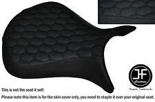 HEX DESIGN BLACK ST CUSTOM FOR KAWASAKI NINJA ZX6R 07-08 FRONT VINYL SEAT COVER