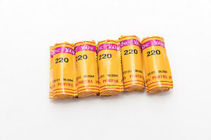 Lot of 5 Rolls of Sealed Kodak Portra 160VC Color 220 Film- Expired