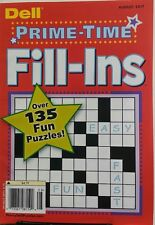 Dell Prime Time Fill Ins August 2017 Over 135 Fun Puzzles FREE SHIPPING sb