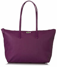 LACOSTE 2018 Large L1 Burgandy Handbag Carryall Tote Holdall Shopper LAPTOP Bag