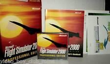 Microsoft FLIGHT SIMULATOR 2000 PROFESSIONAL USATO PC CD UK BIX BOX RS2 37509