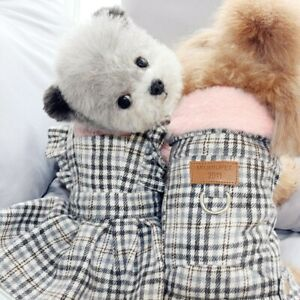 Dog Clothes Coat Jacket Dress Skirt Winter Pet Dog Costume Pomeranian Poodle