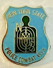 Police New York State Police Combat Association Lapel Pin