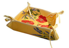 Provence Bread Basket with Corner Ties - Poppy Yellow