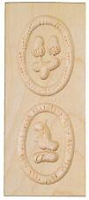 Anisbackform Anisgebäckform Backform gehämmert - 2 ovale Bilder 14 x 6 cm
