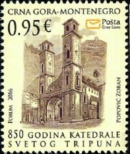 MONTENEGRO / 2016, 850 years of the Cathedral of Saint Tryphon, MNH