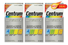 Centrum Advance 3x 100 Tablets FACTORY SEALED PACKAGING