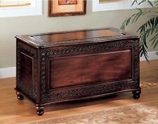 Hope Chest Storage Trunk Cedar Bench Blanket Large Decorative Wooden Heirloom