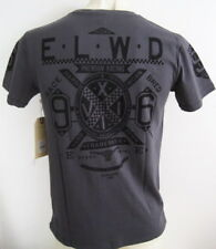 ELWOOD Mens Latest Premium Tee T-shirt Henleys Size M L XL XXL charcoal hurley