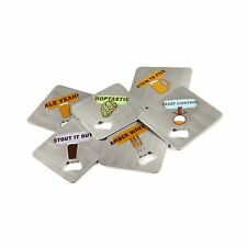 FuhlSpeed Acbc-006 Coaster Craft Stainless Steel Beverage Coasters with Built.