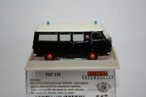 """Brekina 34409 - 1/87 Fiat 238 Bus """" Falck """" Noir/Blanc - Neuf"""