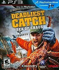 Deadliest Catch Sea of Chaos PS3! MOVE COMPATIBLE! CRAB FISHING, FISH FAMILY FUN