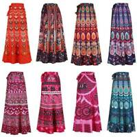 5 PC Indian Vintage Cotton long Skirt wrap Hippy Gypsy Boho Bohemian Magic maxi