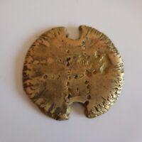 Médaille pièce métal brut or jaune bronze cuivre vintage collection XXe N5289
