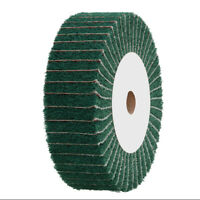 "4""~12"" Nylon Fabric Flap Polishing Wheel Fiber Non-woven for Buffing Metal Wood"