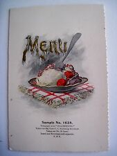 Attractive 1900's Salesman's Sample of Menu Card For Party or Wedding *
