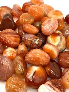 Carnelian Agate Mineral Rock Specimens 3oz - 10lb Healing Stabilizing Stones