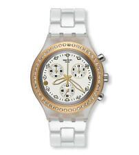 Swatch Women's Full Blooded SVCK4068AG White Plastic Swiss Quartz Watch