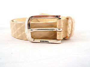 DIESEL Men's Belt Size 85 100% Cow Leather Made In Italy