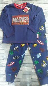 Boys Marvel Thor Iron Man The Hulk Captain America Pyjama Set Age 5-6 Years