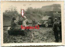 Foto Wehrmacht Beute Panzer Sprit Transport tank Vormarsch Rußland Technik 2.WK