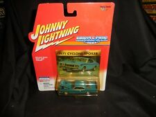 Johnny Lightning Muscle Cars 1971 Cyclone Spoiler Blue MOC