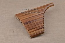 Professional Pan Flute 15 Pipes Item Woodwind Flauta G Key Curved Handmade Bambo