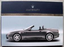 Maserati GranSport Spyder M138 anno 2006,notice d'entretienne