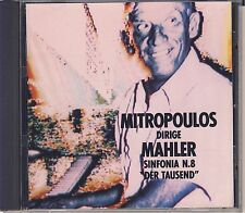 Mahler - Mitropoulos, Wiener Philharmoniker: Symphony No. 8 (Hunt) Like New