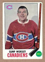 1969-70 Topps #1 Gump Worsley Montreal Canadiens EX-MT condition