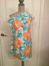 Flirtiest♡♡ LILLY PULITZER Kendall Seashell Print Belted Silk Dress 0 *NWT*