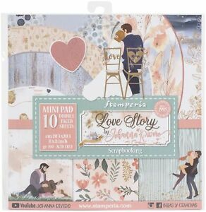 """Stamperia Double-Sided Paper Pad 8""""X8"""" 10/Pkg-Love Story, 10 Designs/1 Each"""