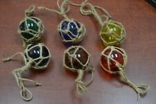 "5 PCS ASSORT COLOR GLASS FLOAT BALL WITH FISHING NET 5/"" **PICK YOUR COLORS**"