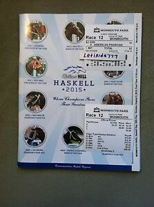 MINT AMERICAN PHAROAH 3 PIECE HASKELL SET PROGRAM $2 WIN & RESULTS TOTE