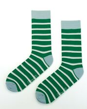 Mens Bright Business Socks Crew Work Dress Wedding Socks Size 40-46 Green White