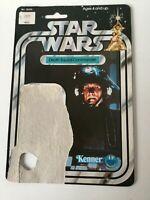 Star Wars Vintage  Death Squad Commander Card Back 1977 Kenner 12 Back