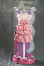 Barbie Doll Fashion Fever Mannequin Outfit Pink 3 Tiered Dress Shoes Bag 05 NIB