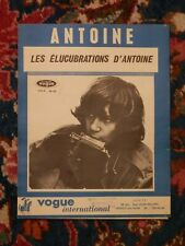 """Ancienne Partition """"LES ELUCUBRATIONS D'ANTOINE"""" par ANTOINE 1966"""