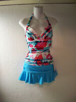 238fd9b9b6764 NEW Croft&Barrow Push Up Tankini Swimsuit Top M sz 8 & Catalina Skirted ...