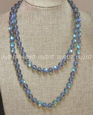 "Beauty 8mm Gray Gleamy Rainbow Moonstone Round Gems Beads Necklaces 16-64"""