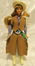 """1981 KENNER GLAMOUR GALS 4-1/4"""" DOLL, #28 LONI COWGIRL + STAND"""