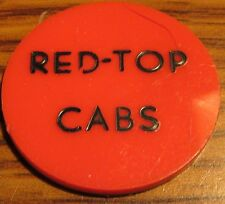 Vintage Red-Top Cabs Unknown Location Red / Yellow Plastic Transit Token - Taxi