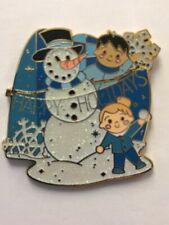 Disney Parks Disneyland 2017 It's a Small World Holiday Snowman Mystery LR Pin