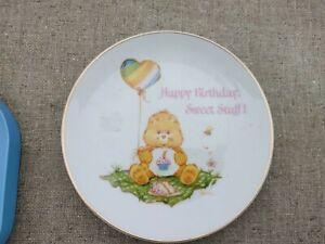 1984 Vintage Care Bears Birthday Bear Fine Porcelain Collectors Plate