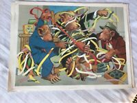 Political Cartoon Vintage First Edition Prints By Lloyd Set Of 5 Monkey Business