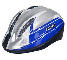 Polizei Polizeihelm Fahrradhelm Kinderhelm mit LED Helm Gr 52-56 Radhelm Schutz